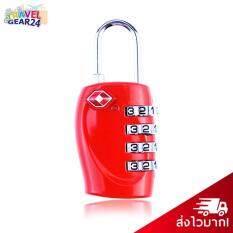 ขาย Travelgear24 กุญแจล็อคกระเป๋าเดินทาง Tsa กุญแจล็อค 4 รหัส Travel Luggage Locks Tsa Red สีแดง เป็นต้นฉบับ