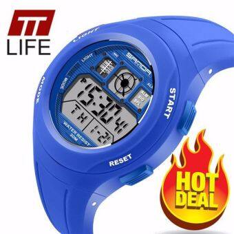 TTLIFE The Best Quality TTLIFE NEW ARRIVAL SANDA 331 Primary School Students Kids Candy Color Waterproof Sports Watch (Dark blue)