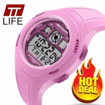 TTLIFE The Best Quality TTLIFE NEW ARRIVAL SANDA 331 Primary School Students Kids Candy Color Waterproof Sports Watch (pink)