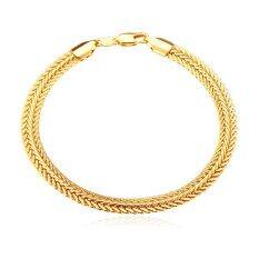 ราคา U7 Foxtail 18K Gold Plated Chain Bracelet Men Jewelry Gold U7 จีน