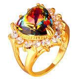 ราคา U7 Heart Zircon 18K Gold Plated Ring Gold ใหม่ล่าสุด