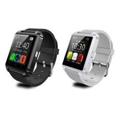 ราคา ราคาถูกที่สุด U8 Uwatch Touch Screen Smart Watch 2015 นาฬิกาบลูทูธ แพ็ค 2 ชิ้น Black White