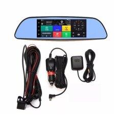 ขาย Uinn 7 Hd 1080P Smart Car Dvr Rearview Mirror Dash Camera Dual Lens 3G Wifi Gps Black Unbranded Generic ถูก