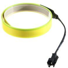 Ujs 1M Flexible Neon Light Glow El Wire Rope Strip Bike Car Party Bar Decor Yellow Intl จีน