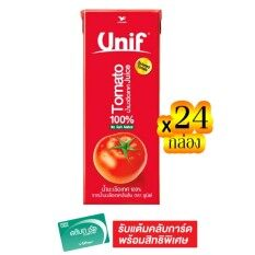 ซื้อ ขายยกลัง Unif ยูนิฟ น้ำมะเขือเทศ100 180 มล ทั้งหมด 24 กล่อง