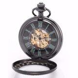 ราคา Unique Roman Numerals Skeleton Cover Movement Hand Winding Relogio Clock Chain Fobs Pendant Mechanical Pocket Watch Gift Wpk200 นาฬิกาข้อมือ ชายและหญิง Intl