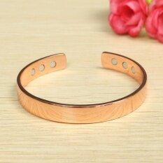 ซื้อ Unisex Magnetic Copper Bracelet Healing Bio Therapy Arthritis Pain Relief Bangle Rose Gold Intl ถูก