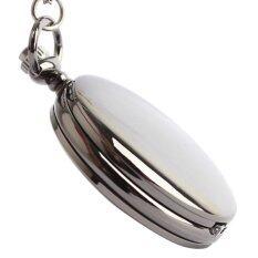 ราคา Unisex Women Mens Vintage Antique Luxury Pure Color Flip Up Quartz Pocket Watch With Chain Black เป็นต้นฉบับ