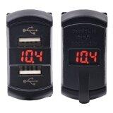 ซื้อ Universal 2In1 Usb Charger 5V 4 2A Red Led Voltmeter Dual Usb Ports Power Socket For Rocker Switch Panel ถูก ใน กรุงเทพมหานคร