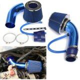 ทบทวน ที่สุด Universal Car Automobile Racing Air Intake Filter Alumimum Pipenpower Flow Kit Hose Tude System Blue Audew