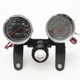 ขาย Universal Led Motorcycle Tachometer Odometer Speedometer Gauge With Bracket ถูก