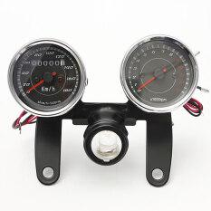 ราคา Universal Led Motorcycle Tachometer Odometer Speedometer Gauge With Bracket Unbranded Generic ใหม่