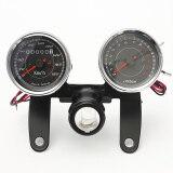 Universal Led Motorcycle Tachometer Odometer Speedometer Gauge With Bracket ใหม่ล่าสุด