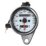 ราคา Universal Motorcycle Dual Odometer Speedometer Gauge Led Backlight Signal Light ใหม่