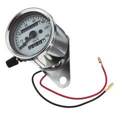 ราคา Universal Motorcycle Dual Odometer Speedometer Gauge Test Miles Speed Compact เป็นต้นฉบับ