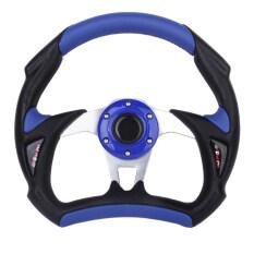 ขาย Universal Pu Leather Car Racing Steering Wheel Sport F1 Jdm Auto Blue Black ออนไลน์ ใน จีน