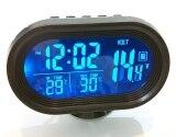ราคา Unlimit 3 In 1 ที่วัดโวลท์ วัดอุณหภูมิภายใน และนอกรถ นาฬิกา ไฟสีส้ม และฟ้า พื้นหลังดำ ทรงแคปซูล Black