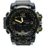 ขาย Us Submarine นาฬิกาข้อมือผู้ชาย 2 ระบบ Quartz Digital กันนํ้า สายยางสีดำ