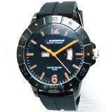 นาฬิกาข้อมือชาย Us Submarine แท้ หน้าปัดดำ เข็มส้ม สายยาง ใน Thailand