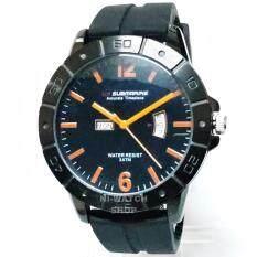 ราคา นาฬิกาข้อมือชาย Us Submarine แท้ หน้าปัดดำ เข็มส้ม สายยาง ถูก