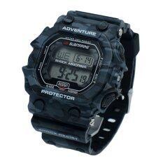 ขาย ซื้อ Us Submarine นาฬิกาข้อมือ ดิจิตอล สายเรซิ่น ลายพราง รุ่น Tp1353M – สีดำ เทา ใน Thailand