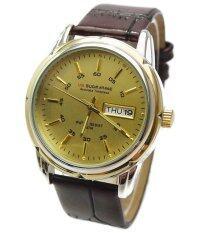 ราคา Us Submarine นาฬิกา ข้อมือ สายหนัง Unisex รุ่น B042 Gold Brown ที่สุด