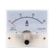 Dc 30a อนาล็อกแอมมิเตอร์แผง 0-30a ปัจจุบันเมตรอะนาล็อก Amperemeter แผง.