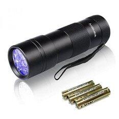 ไฟฉายแสงสีดำ Vansky 12 ไฟ Blacklight Ultraviolet เครื่องตรวจจับสำหรับสุนัข/แมว/สัตว์เลี้ยงปัสสาวะและแห้งคราบและเตียง Bug พรม/พรม/ชั้น - นานาชาติ.