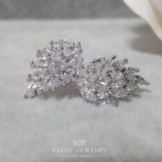 ขาย Value Jewelry ต่างหูแฟชั่นประดับเพชร Cz รุ่น Er1018 White Gold Plated ออนไลน์
