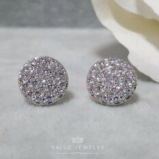 ขาย Value Jewelry ต่างหูแฟชั่นประดับเพชร Cz รุ่น Er1025 White Gold Plated
