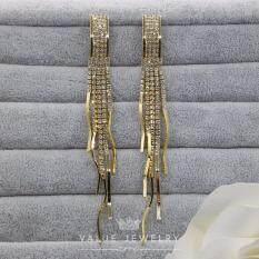 ขาย Value Jewelry ต่างหูแฟชั่นประดับเพชร Cz รุ่น Er1036 Gold Plated กรุงเทพมหานคร ถูก