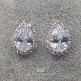 ขาย Value Jewelry ต่างหูแฟชั่นประดับเพชร Cz รุ่น Er1055 White Gold Plated ออนไลน์