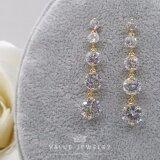 ขาย ซื้อ Value Jewelry ต่างหูแฟชั่นประดับเพชร Cz รุ่น Er1088 Gold Plated