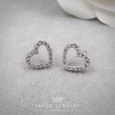ซื้อ Value Jewelry ต่างหูแฟชั่นประดับเพชร Cz รุ่น Er1092 White Gold Plated ถูก กรุงเทพมหานคร