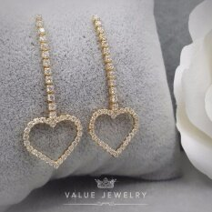 Value Jewelry ต่างหูแฟชั่นประดับเพชร Cz รุ่น Er1109 Gold Plated เป็นต้นฉบับ