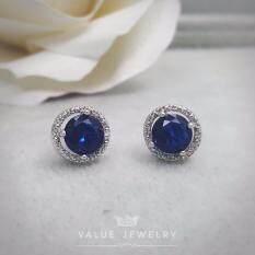 ส่วนลด Value Jewelry ต่างหูแฟชั่นประดับเพชร Cz รุ่น Er1128 White Gold Plated Value Jewelry