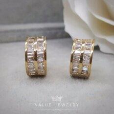 ขาย ซื้อ Value Jewelry ต่างหูแฟชั่นประดับเพชร Cz รุ่น Er1158 Gold Plated กรุงเทพมหานคร
