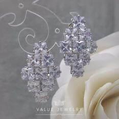 ขาย Value Jewelry ต่างหูแฟชั่นประดับเพชร Cz รุ่น Er1159 White Gold Plated กรุงเทพมหานคร ถูก