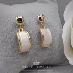ส่วนลด Value Jewelry ต่างหูแฟชั่นประดับเพชร Cz รุ่น Er2075 Gold Plated Value Jewelry