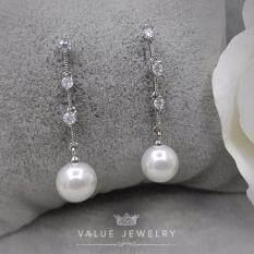 ขาย Value Jewelry ต่างหูแฟชั่นประดับเพชร Cz รุ่น Er2097 White Gold Plated ถูก กรุงเทพมหานคร