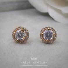 ทบทวน Value Jewelry ต่างหูแฟชั่นประดับเพชร Cz รุ่น Er2150 Gold Plated Value Jewelry