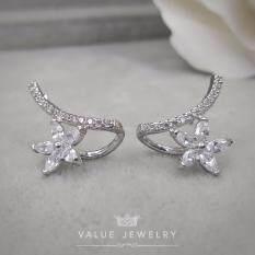 ส่วนลด Value Jewelry ต่างหูแฟชั่นประดับเพชร Cz รุ่น Er2165 White Gold Plated Value Jewelry กรุงเทพมหานคร