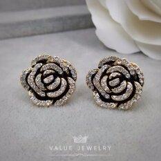 ราคา Value Jewelry ต่างหูแฟชั่นประดับเพชร Cz รุ่น Er2174 Gold Plated Value Jewelry เป็นต้นฉบับ
