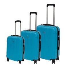 ราคา Van Burgh กระเป๋าเดินทาง รุ่น 8020 ชุด 3 ใบ Size 20 24 28 นิ้ว สีฟ้าลายริ้ว เป็นต้นฉบับ Van Burgh