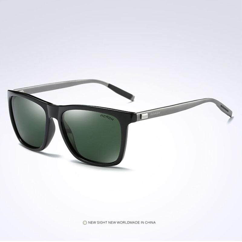 VEITHDIA 387 Fashion Alloy Frame Square Polarized Sunglasses Men Driving Glasses grey green – intl