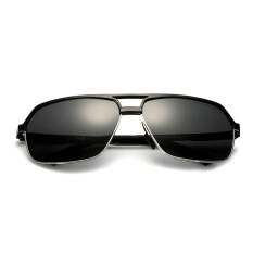 ส่วนลด Veithdia 6521 Polarized Sunglasses Men Black Frame Grey Lens Intl
