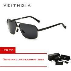 ขาย Veithdia อลูมิเนียมแม็กนีเซียมอัลลอยแว่นตากันแดด Polarized Men สแควร์วินเทจชายแว่นตากันแดดแว่นตา 6521 ถูก จีน