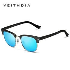 ซื้อ Veithdia Unisex Retro Aluminum Magnesium Sunglasses Polarized Mirror Vintage Outdoor Eyewear Accessories Sun Glasses 6690 Gun Blue Veithdia เป็นต้นฉบับ