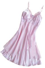 ซื้อ Velishy Spaghetti Straps Sleepwear Robe Pink Intl ถูก