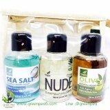ราคา Verigins Gift Set 1 Sea Salt สบู่เหลว 3 ขวดในกระเป๋าผ้ากระสอบ Verigins เป็นต้นฉบับ